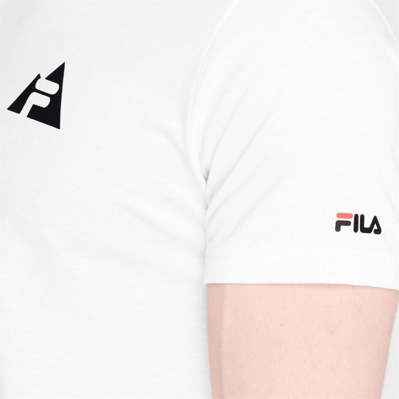 Tričko Fila Line Short Sleeve T Shirt Mens White