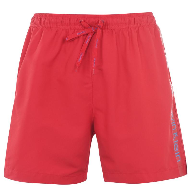 Plavky Calvin Klein Taped Drawstring Swim Shorts Red/Blue