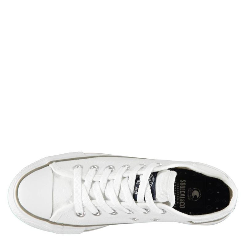 Obuv SoulCal Canvas Low Ladies Canvas Shoes White