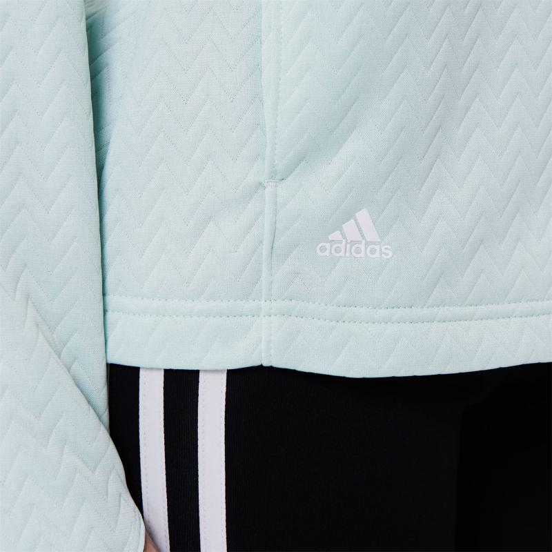 Svetr adidas Full Zip Layer Womens Dash Green