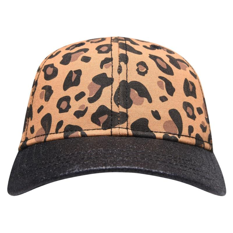 Crafted Bling Cap Junior Girls Leopard Glitter