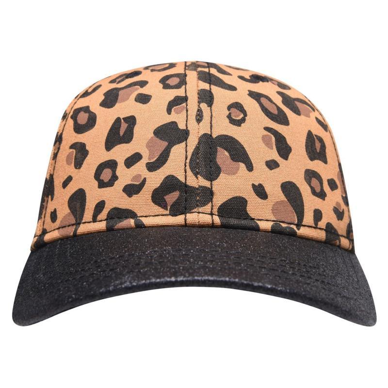 Crafted Bling Cap Junior Girls Leopard Glitter
