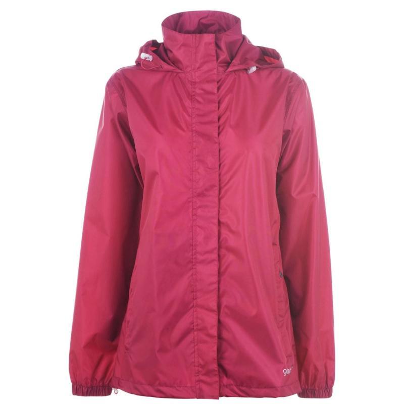 Gelert Packaway Waterproof Jacket Ladies Raspberry