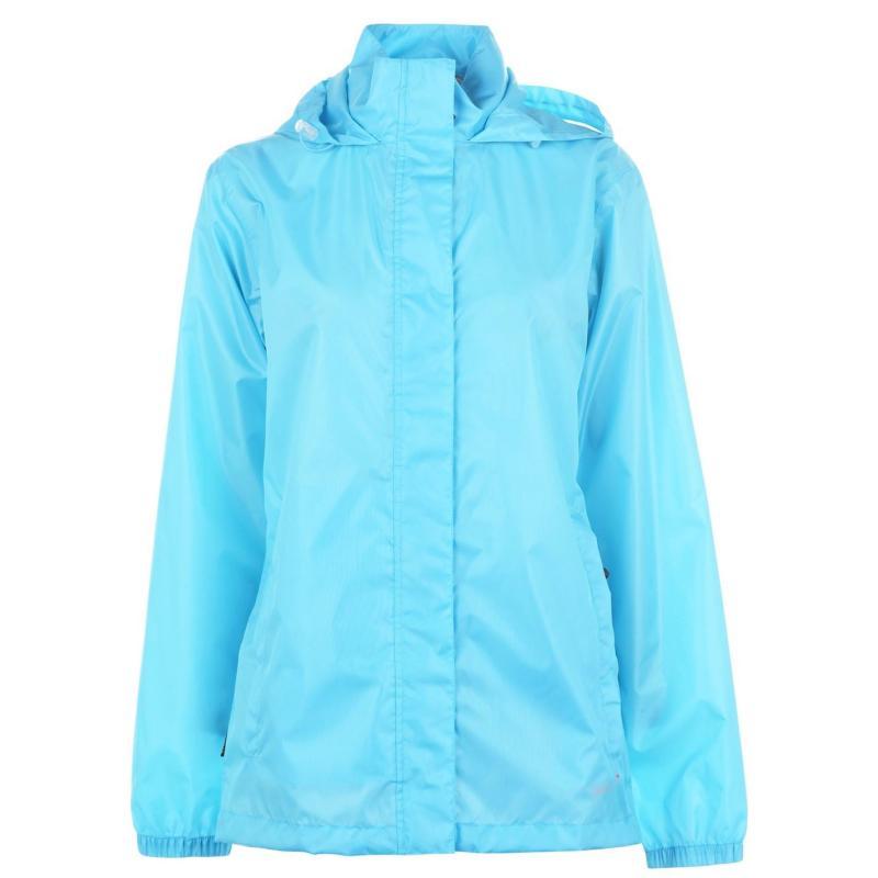 Gelert Packaway Waterproof Jacket Ladies Ice Blue