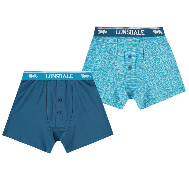 Spodní prádlo Lonsdale 2 Pack Boxers Junior Sea/Print