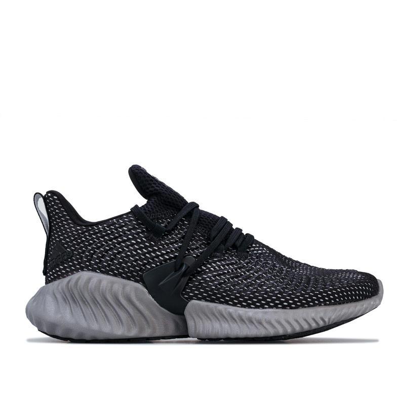 Adidas Mens Alphabounce Instinct Running Trainers Black-White