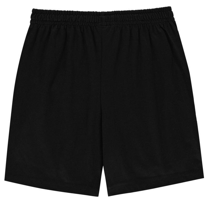 Kraťasy Slazenger Jersey Shorts Junior Boys Black