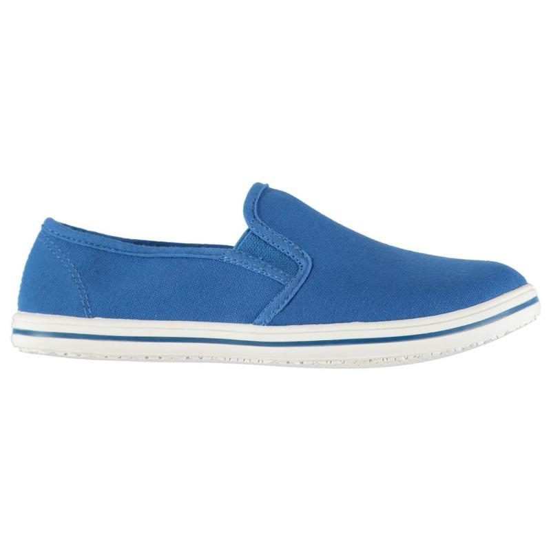 Boty Slazenger Slip On Junior Canvas Shoes Blue