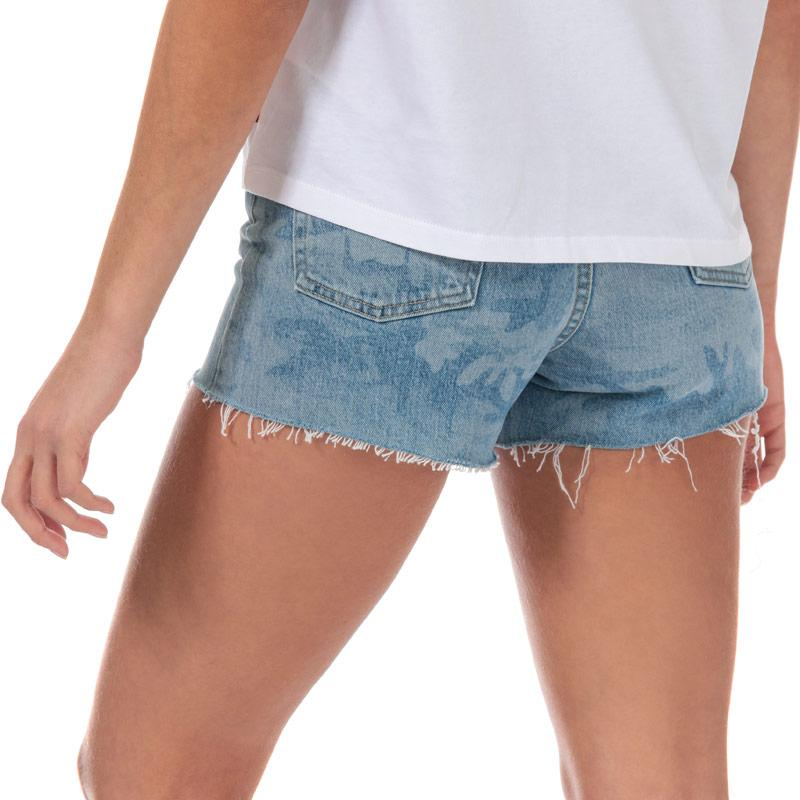 Levis Womens Ribcage Shorts Denim