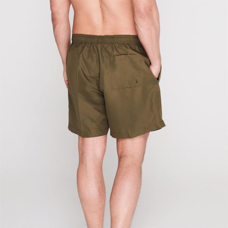 Plavky Calvin Klein Taped Drawstring Swim Shorts Green