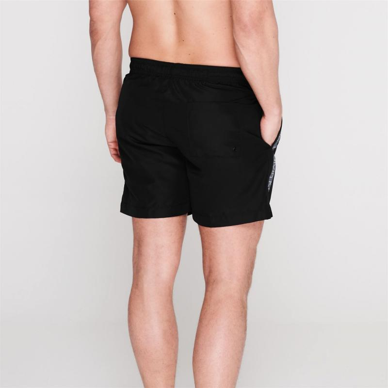 Plavky Calvin Klein Taped Drawstring Swim Shorts Black/Grey