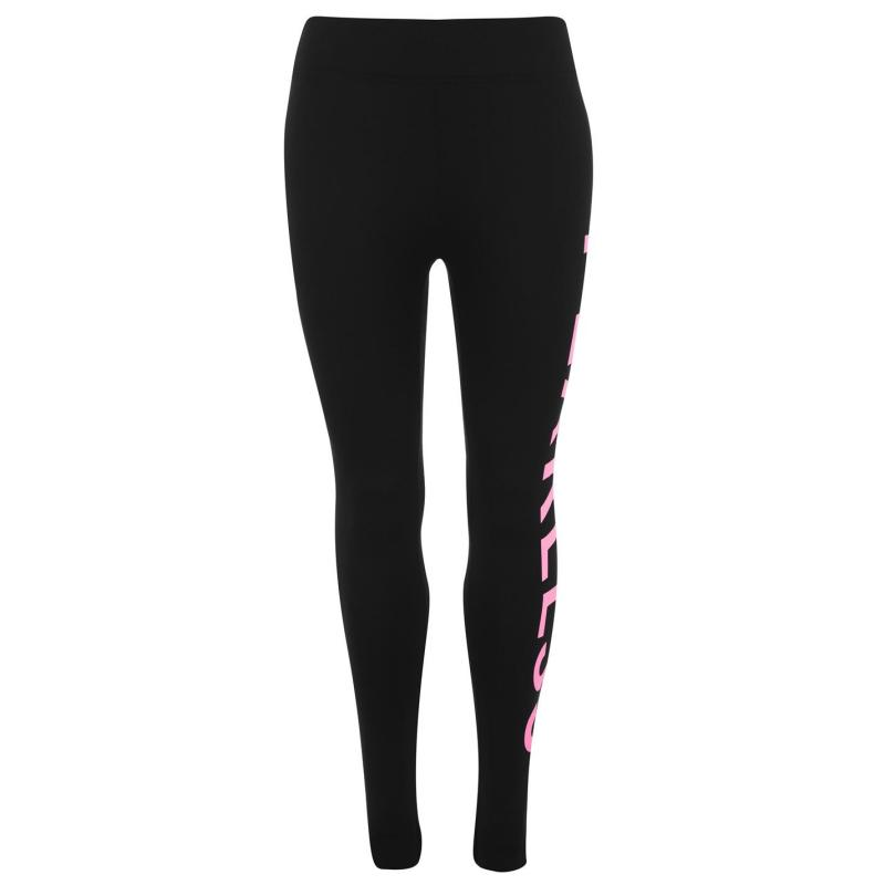 Legíny Golddigga Large Logo Leggings Ladies Blk/Pink