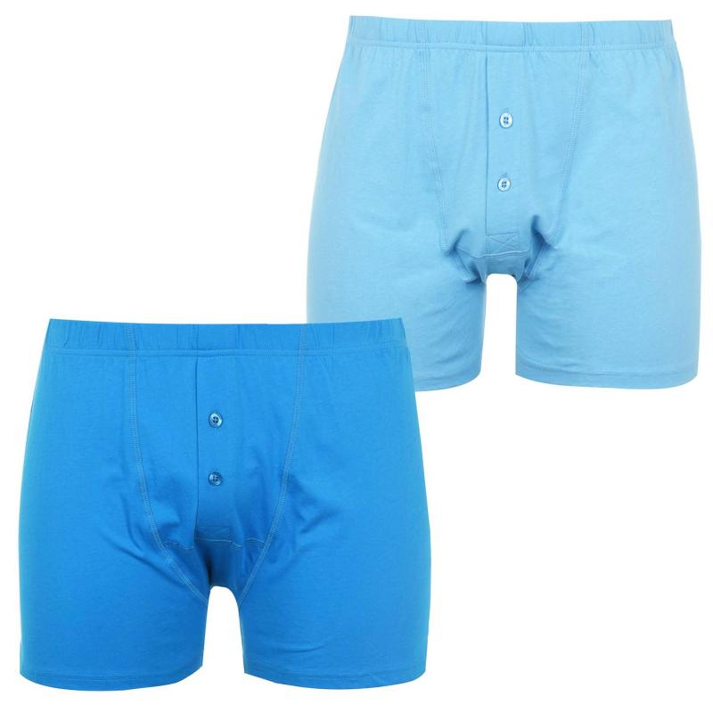 Spodní prádlo Slazenger 2 Pack Boxers Mens Blue Jewel