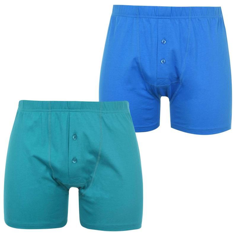 Spodní prádlo Slazenger 2 Pack Boxers Mens Peacock Blue