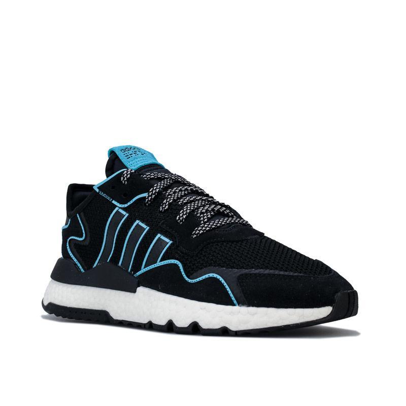 Adidas Originals Mens Nite Jogger Trainers black blue