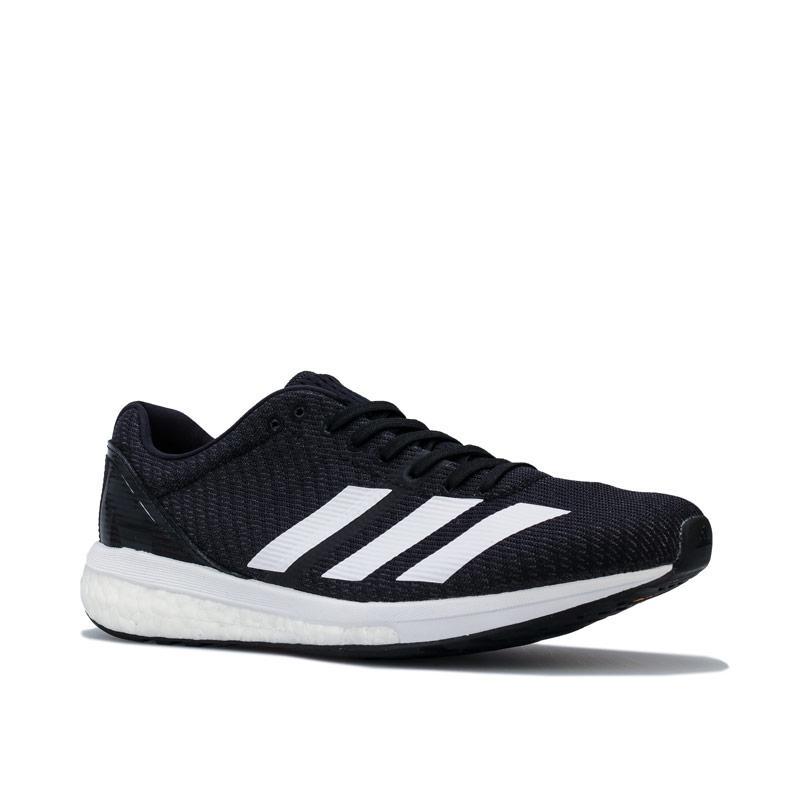 Adidas Womens adizero Boston 8 Running Shoes Black-White