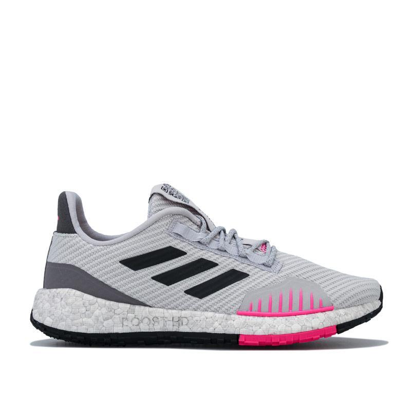 Adidas Womens PulseBOOST HD Winter Running Shoes Light Grey