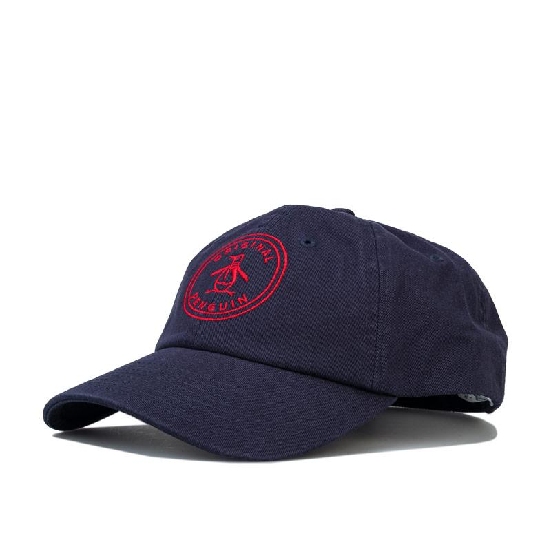 Original Penguin Mens Stamp Baseball Cap Navy Red