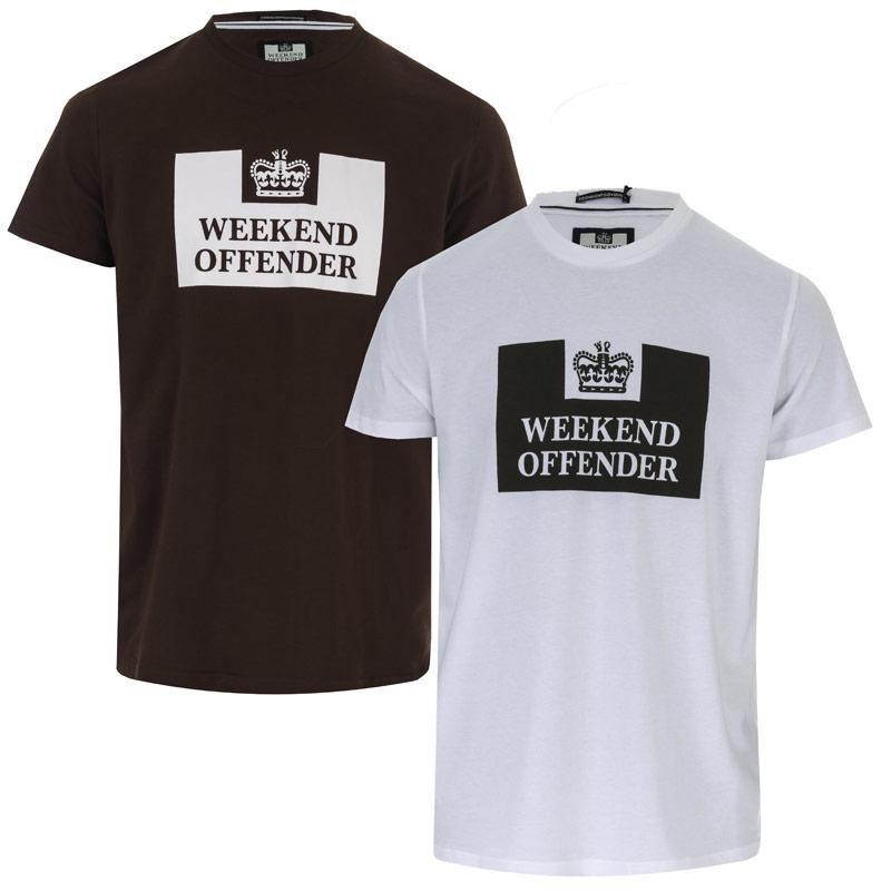 Tričko Weekend Offender Mens Tadmur 2 Pack T-Shirts White Green