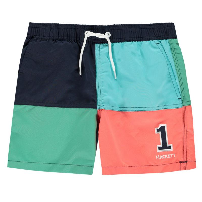 Plavky Hackett Number Shorts White/Multi 0AA