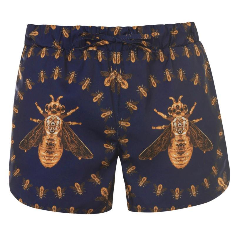 Plavky Hermano Mens Printed Swim Shorts Blue Bee