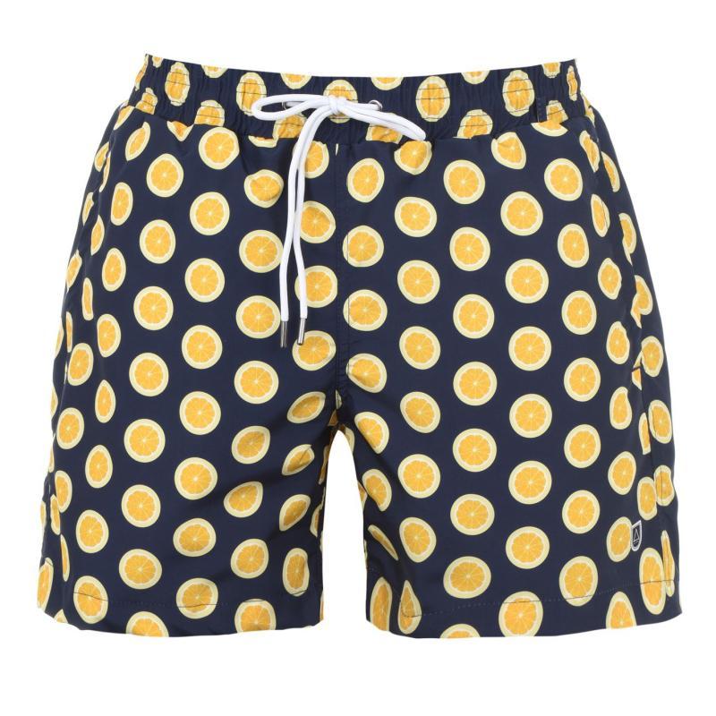Plavky Verte Vallee Print Swim Shorts Des Citrons