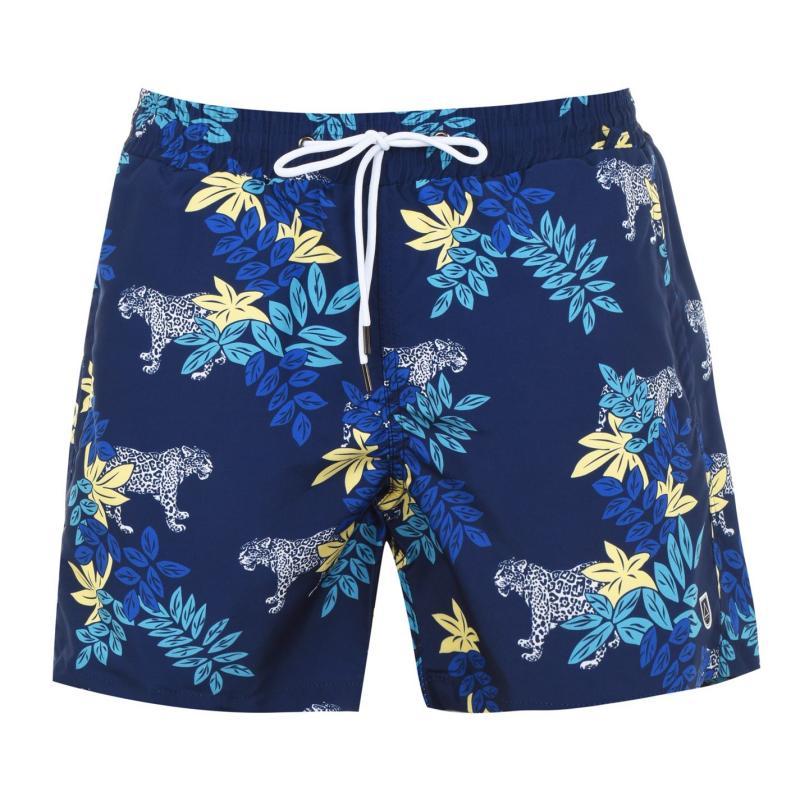 Plavky Verte Vallee Print Swim Shorts Le Jaguar