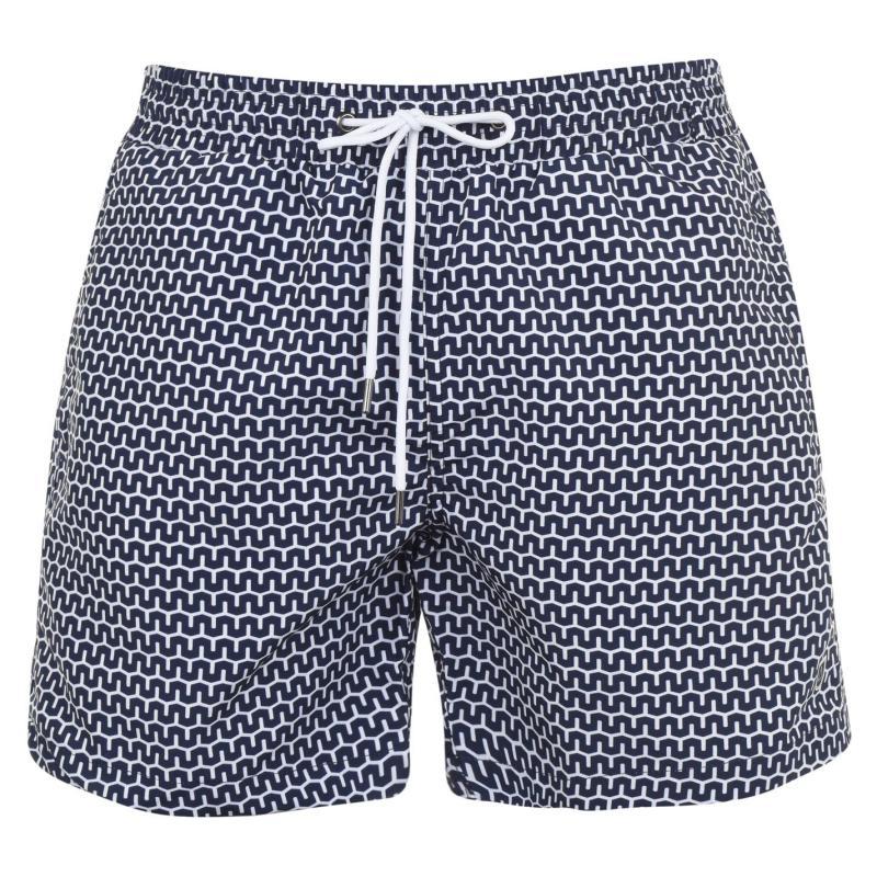Plavky Verte Vallee Print Swim Shorts Bleu Cabanes
