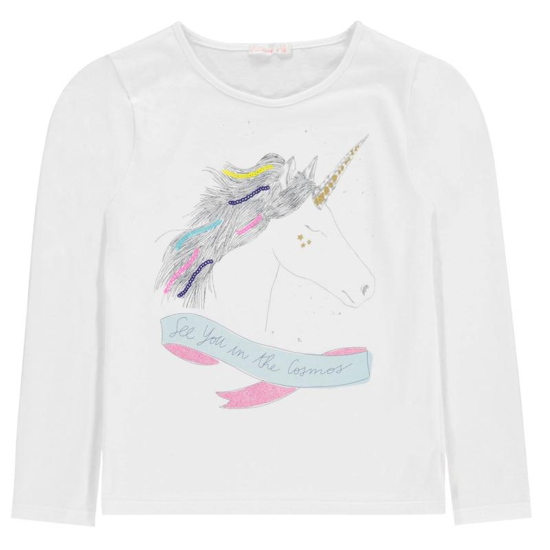 Billieblush Unicorn T Shirt IVORY 121