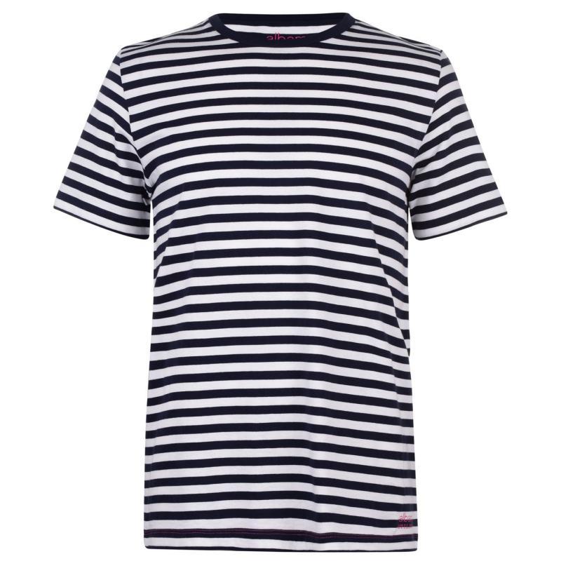 Tričko Albam Utility Pocket Long Sleeve T-Shirt Navy/White