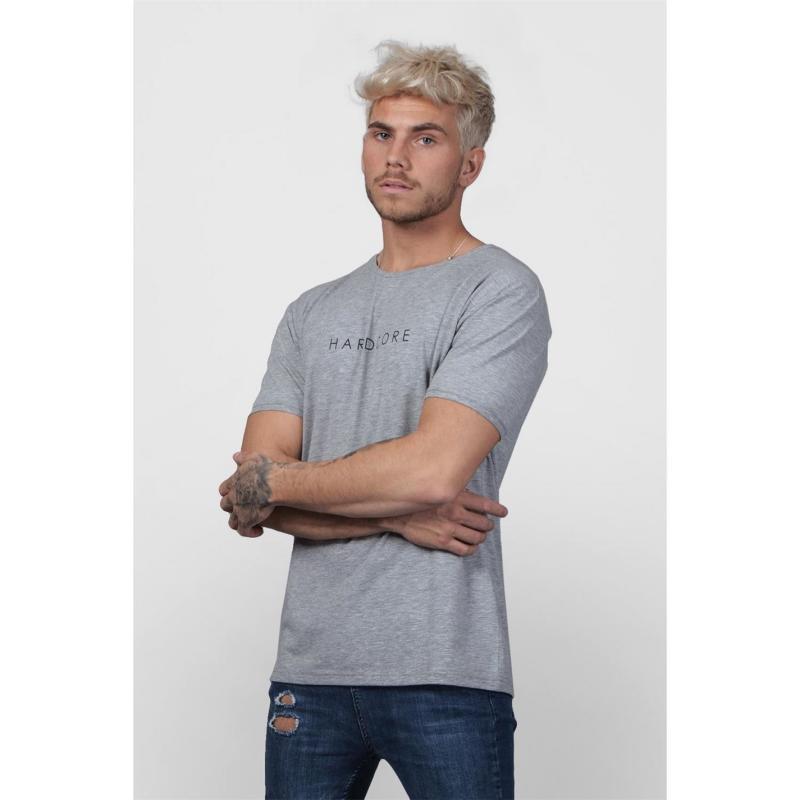 Tričko Hardcore Calle T Shirt Grey Marl