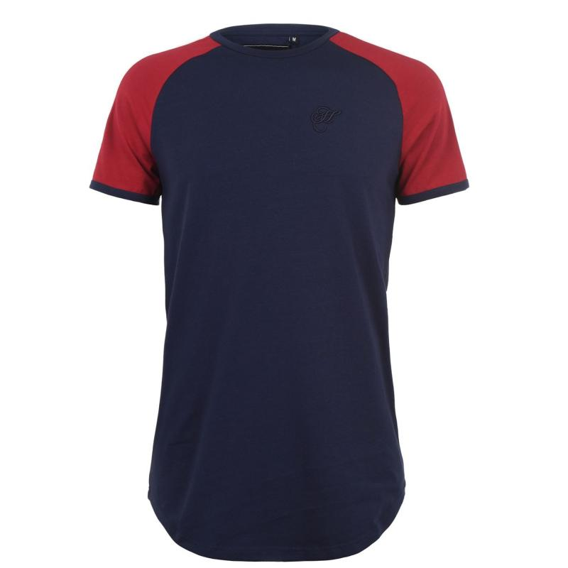 Tričko Hardcore Hudson T Shirt Navy/Dark Red