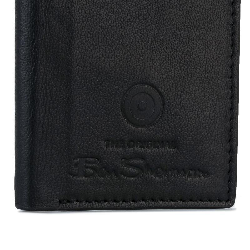 Ben Sherman Dack Leather RFID Card Holder Wallet Black