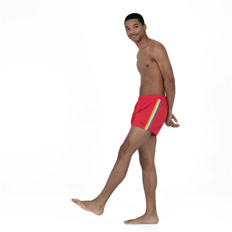 Plavky Speedo Retro Swim Shorts Mens Fed Red