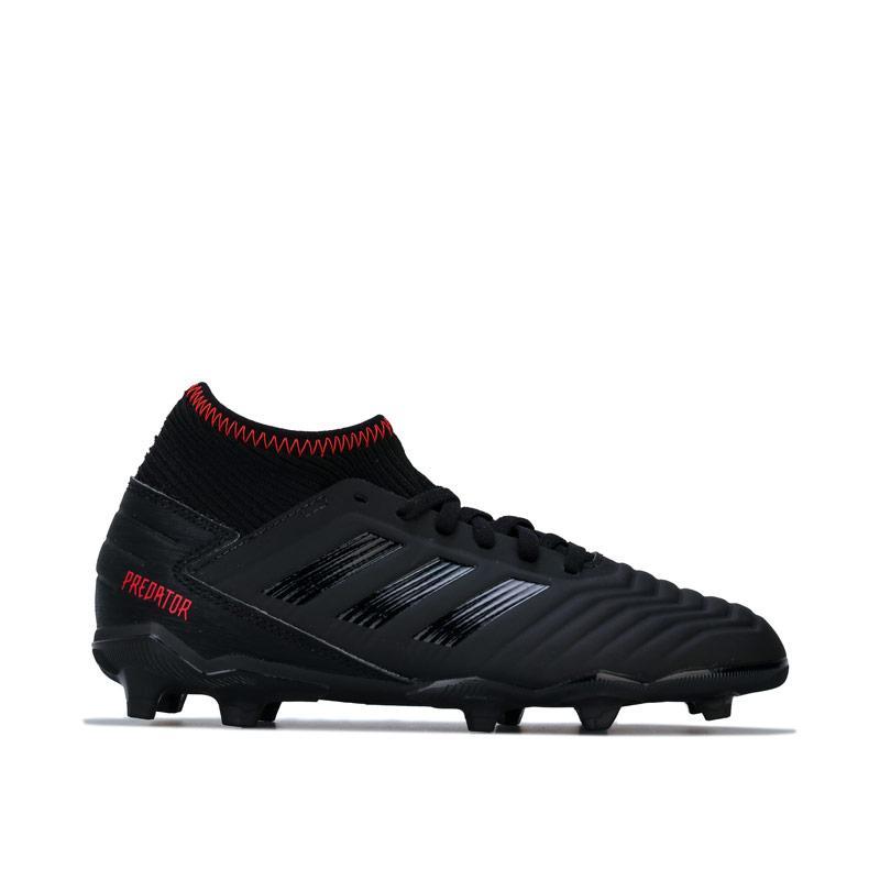 Adidas Junior Boys Predator 19.3 FG Football Boots Black