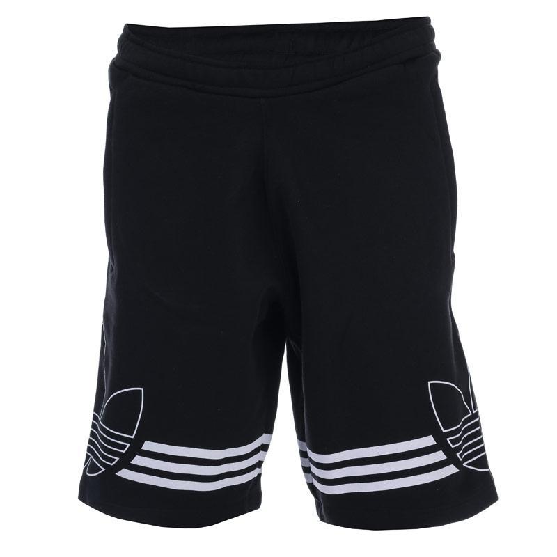 Adidas Originals Mens Outline Fleece Sweat Shorts Black