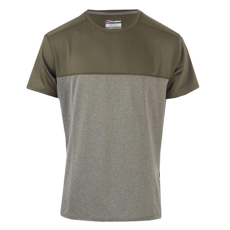 Tričko Berghaus Mens Voyager Base Crew T-Shirt Khaki