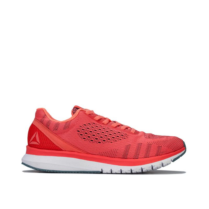 Reebok Womens Print Smooth Ultk Running Shoes Coral