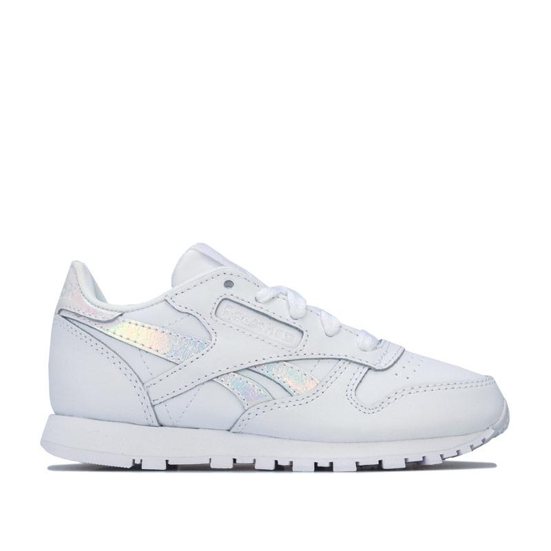Reebok Classics Children Girls Classic Leather Trainers White