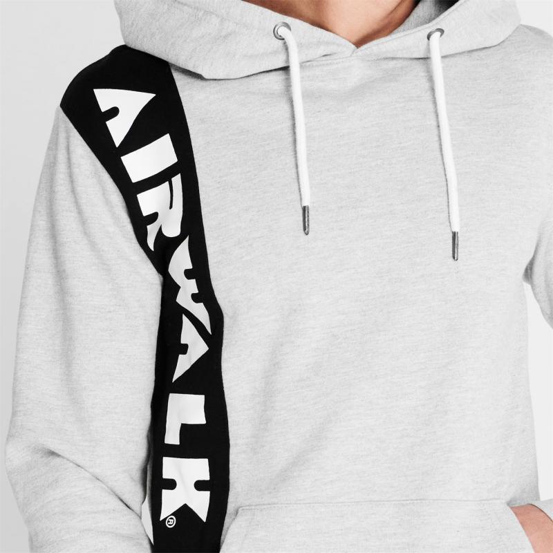 Mikina Airwalk Side Logo Hoodie Grey