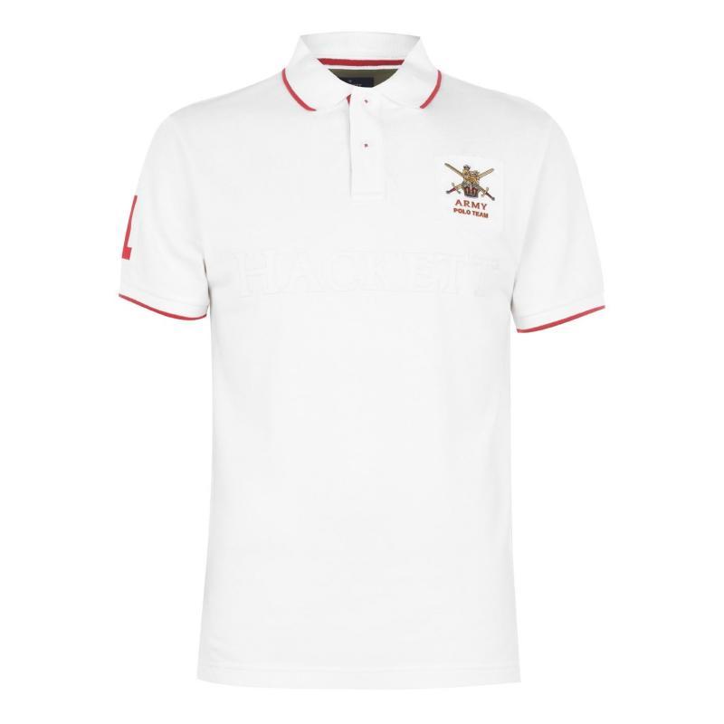 Hackett Army Polo Shirt Chalk837