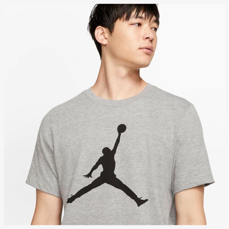 Tričko Air Jordan Big Logo T Shirt Mens Grey
