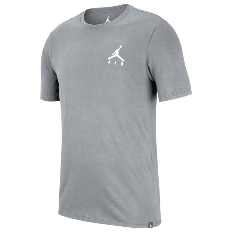 Tričko Air Jordan Jordan Jumpman Air Embroidered T-Shirt Mens CARBON HEATHER/WHITE