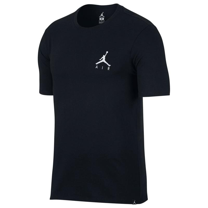 Tričko Air Jordan Jordan Jumpman Air Embroidered T-Shirt Mens BLACK/WHITE