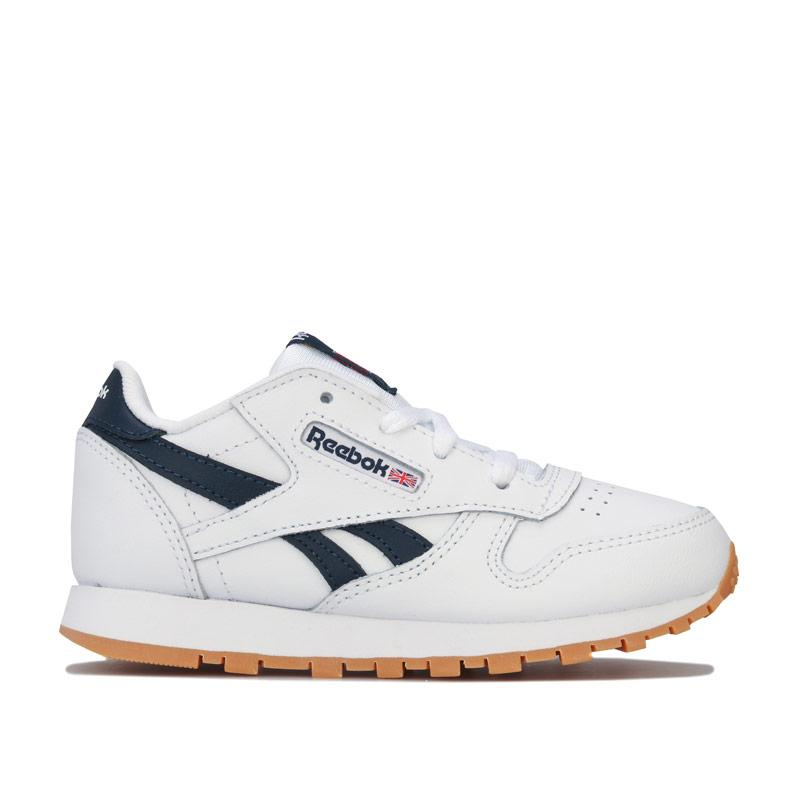 Boty Reebok Classics Infant Boys Classic Leather Trainers White Navy