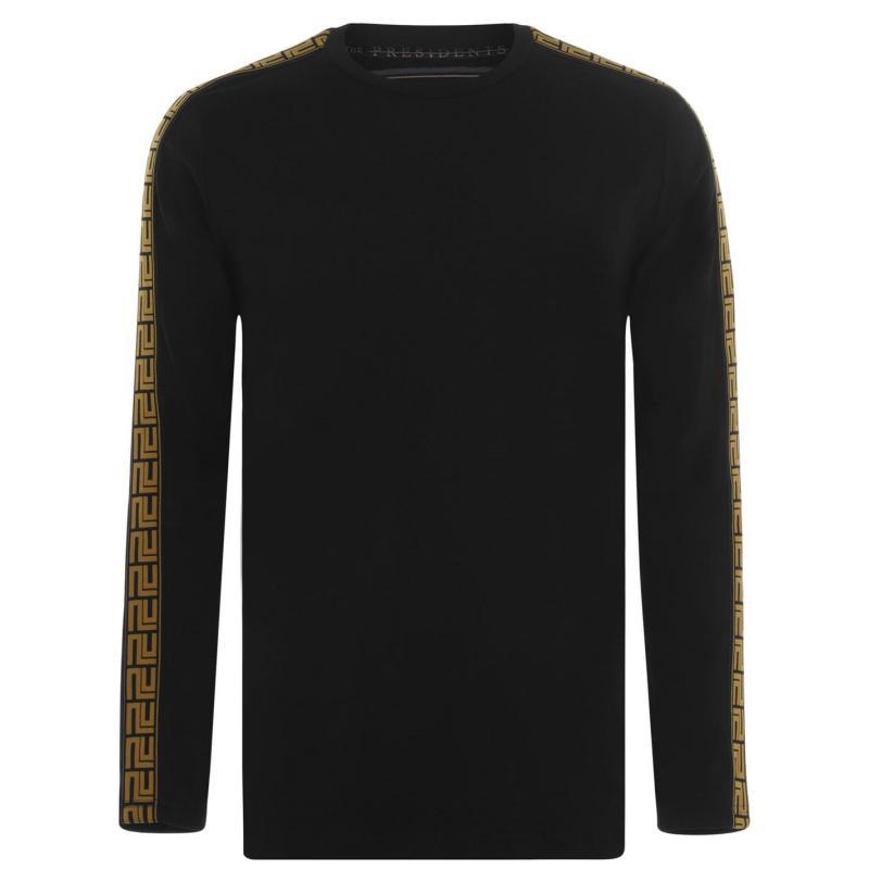 Tričko Presidents Club Greco Long Sleeve T Shirt Black
