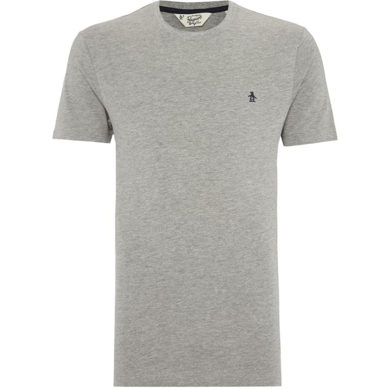 Tričko Original Penguin Short Sleeve Crew Neck T Shirt Grey