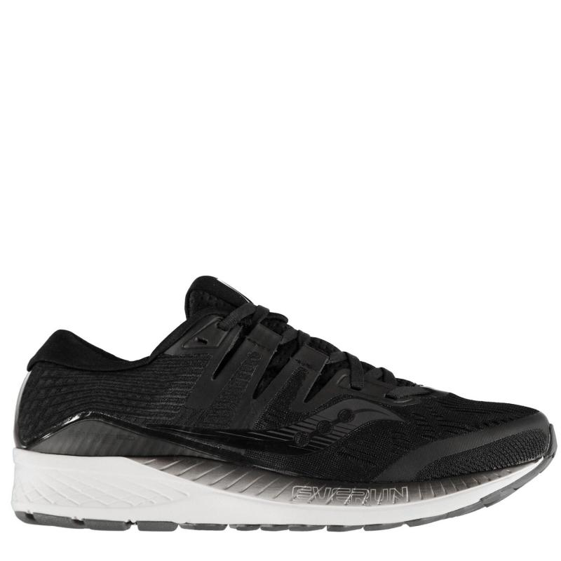 Saucony Ride ISO Mens Running Shoes Black/White