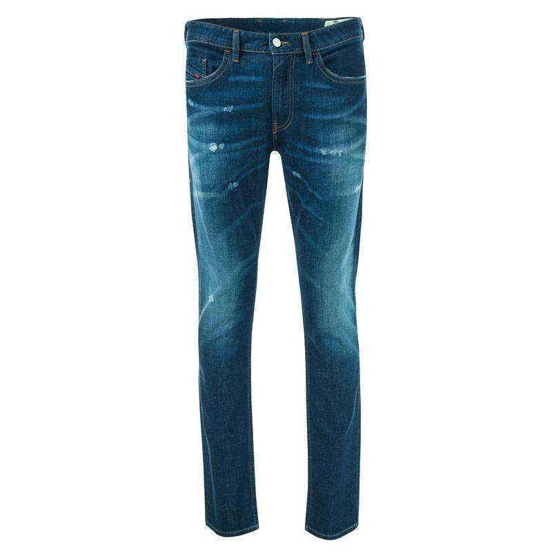 Diesel Mens Thommer Slim Fit Jeans Denim