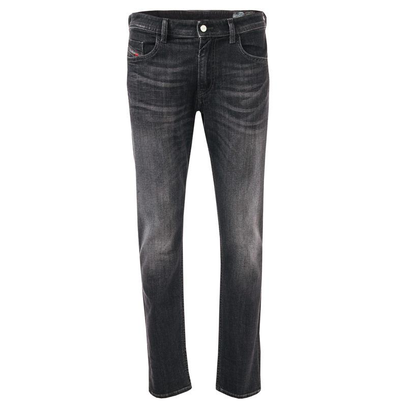 Diesel Mens Thommer Slim Fit Jeans Black